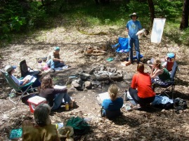 Teaching field botany on the McCloud River circa 2009