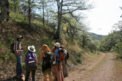 Teaching field botany on Scotch Creek, Cascade-Siskiyou National Monument