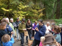 Teaching mushroom identification at the Opal Creek Ancient Forest Center, circa 2008